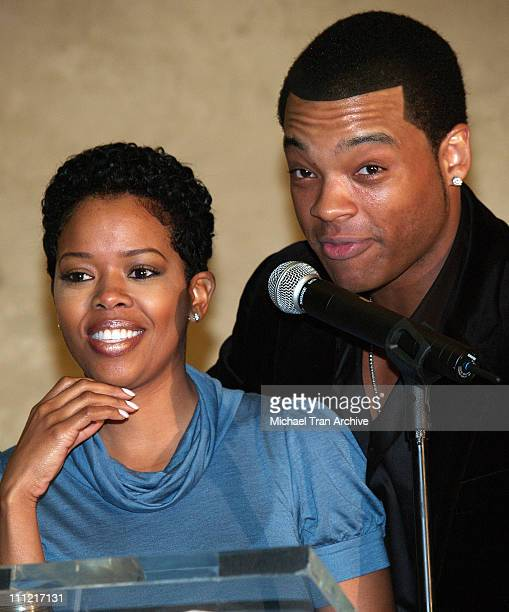 Malinda Williams and Chico Benymon during 16th Annual NAACP Theatre Awards Nominations - Press Conference at Hollywood Roosevelt Hotel in Hollywood,...