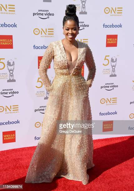 Malinda Williams arrives at the 50th NAACP Image Awards at Dolby Theatre on March 30 2019 in Hollywood California