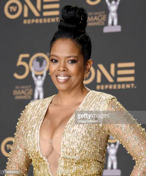 Malinda Williams poses in the Press Room at the 50th NAACP Image Awards at Dolby Theatre on March 30, 2019 in Hollywood, California.
