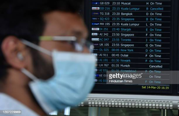 Malindo Air OD 216 2315pm to Kuala Lumpur and Lufthansa LH 767 0135am to Munich flights were cancelled Airlines passenger wearing mask to protect...