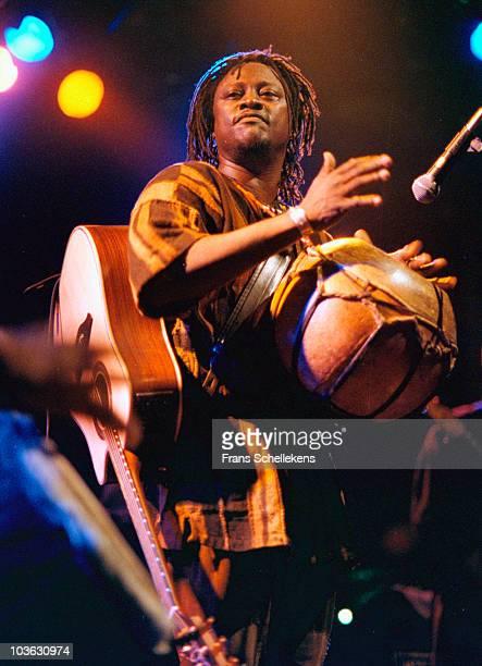 Malinese singer and guitarist Habib Koite performs live on stage at Melkweg in Amsterdam, Netherlands on November 26 1998