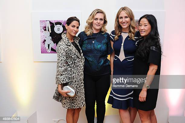 Malini Murjani Justine Koons Alison Brokaw and Deb Lee attend Gus Al Party Launching #yes Collection including Jeff Koons Limited Edition...