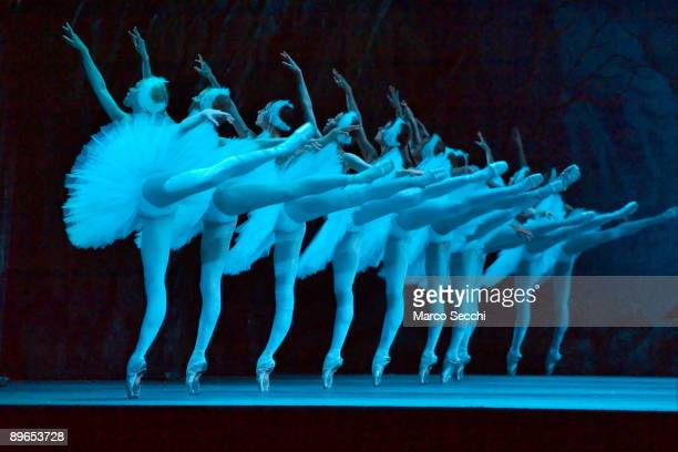 Malinsky's Ballet photocall for Swan Lake at The Royal Opera House on August 7 2009 in London England