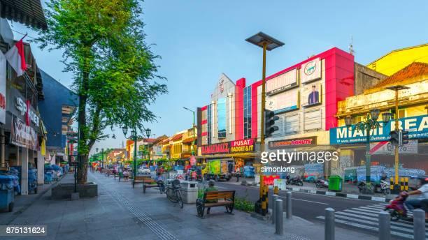 malioboro street, indonesia - yogyakarta stock pictures, royalty-free photos & images