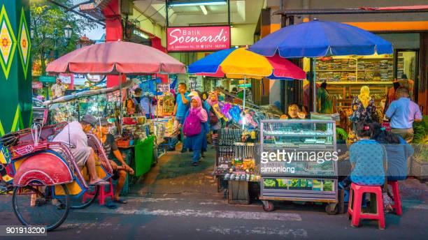 malioboro street, yogyakarta, indonesia - yogyakarta stock photos and pictures