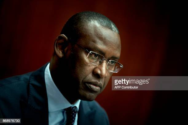 Mali's Foreign Minister Abdoulaye Diop waits to speak during an event at the Center for Strategic and International Studies November 1 2017 in...