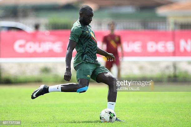 Mali's forward Moussa Marega takes part in a training session in PortGentil on January 15 during the 2017 Africa Cup of Nations football tournament...