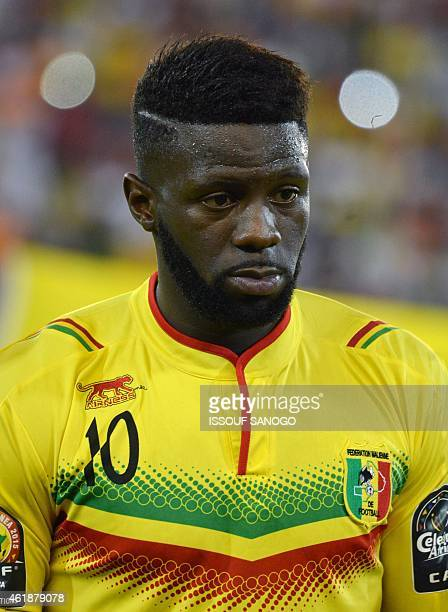 Mali's midfielder Bakary Sako poses ahead of the 2015 African Cup of Nations group D football match between Mali and Cameroon in Malabo on January 20...