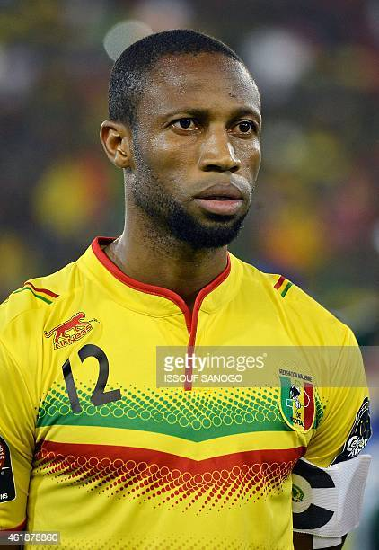 Mali's midfielder Seydou Keita poses ahead of the 2015 African Cup of Nations group D football match between Mali and Cameroon in Malabo on January...