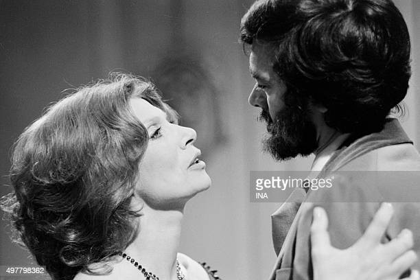 Malka Ribowska and Bernard Tiphaine in 'The mourning becomes to Electra' Eugene O'Neil's tragedy was realized for the television by Maurice Cazeneuve