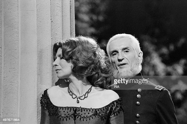 Malka Ribowska and Michel Etcheverry in 'The mourning becomes to Electra' Eugène O'Neil's tragedy was realized for the television by Maurice Cazeneuve