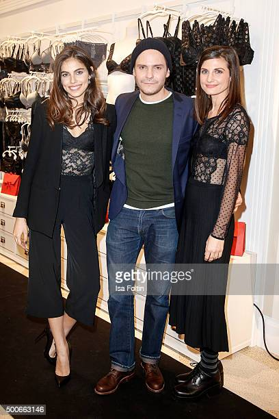 Malka Shlomit Felicitas Rombold and Daniel Bruehl attend the INTIMISSIMI Christmas Reception on December 09 2015 in Munich Germany