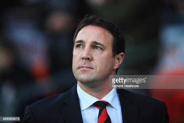 Malky Mackay, manager of Cardiff City looks on prior to the Barclays Premier League match between Cardiff City and Southampton at Cardiff City...