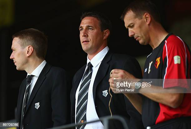 Malky Mackay manager of Watford looks on from the stands before the Coca Cola Championship match between Watford and Doncaster Rovers at Vicarage...