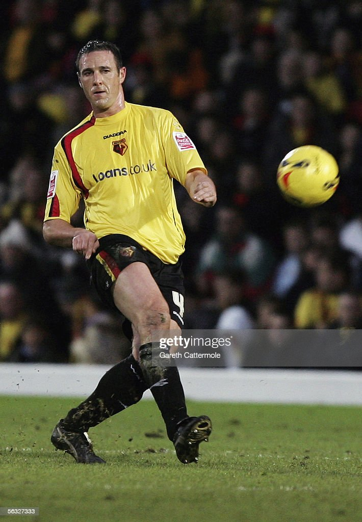 Malky Mackay of Watford in action during the Coca-Cola Championship match between Watford and Brighton & Hove Albion at Vicarage Road on December 3, 2005 in Watford, England.