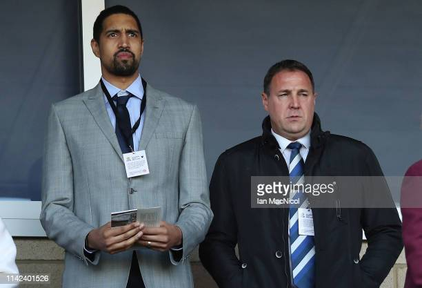 Malky Mackay, Performance director of the Scottish FA is seen prior to the Scottish Cup Semi Final match between Heart of Midlothian and Inverness...