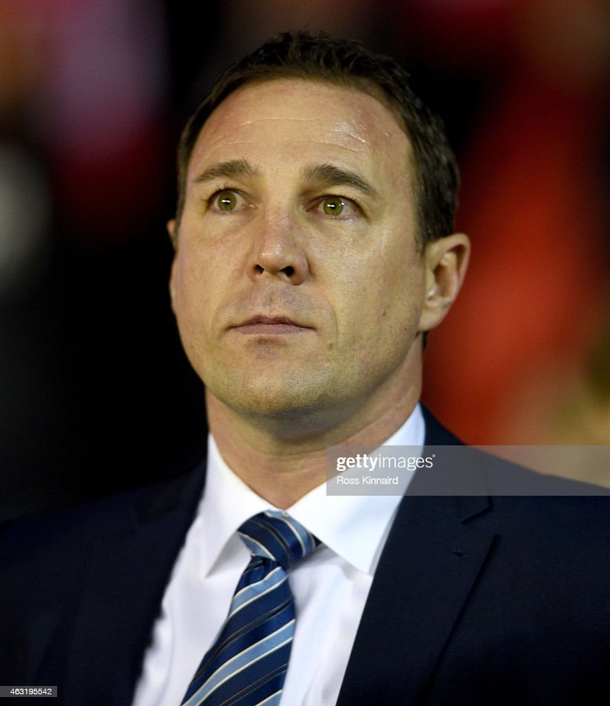Malky Mackay the Wigan manager during the Sky Bet Championship match between Nottingham Forest and Wigan Athletic at City Ground on February 11, 2015 in Nottingham, England.