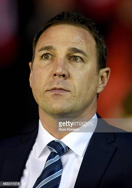 Malky Mackay the Wigan manager during the Sky Bet Championship match between Nottingham Forest and Wigan Athletic at City Ground on February 11 2015...