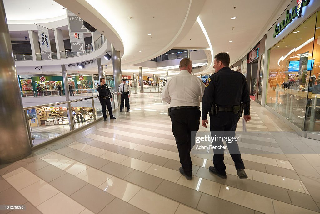 Mall of America Director of Security Major Doug Reynolds and Bloomington Police Chief Jeff Potts walk the mall during a tour of Mall of America security systems on February 23, 2015 in Bloomington, Minnesota. In a newly released video, Somali militant group al-Shabaab called for terror attacks at a number of sites, including Mall of America, the largest shopping mall in the United States.