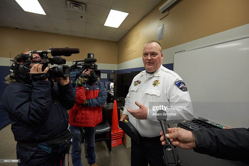 Mall of America Director of Security Major Doug Reynolds briefs the media during a tour of Mall of America security systems on February 23, 2015 in Bloomington, Minnesota. In a newly released video, Somali militant group al-Shabaab called for terror attacks at a number of sites, including Mall of America, the largest shopping mall in the United States.