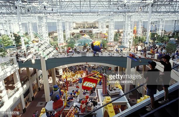 Mall of America in Minneapolis, United States in August, 1992 - Roller coaster.