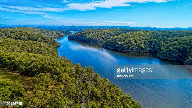 mallacoota lake - mallacoota stock pictures, royalty-free photos & images