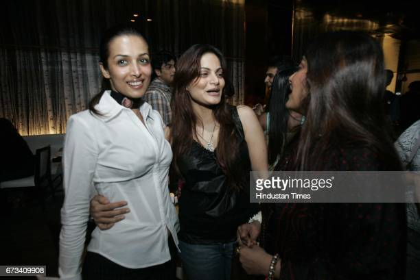 Mallaika Arora with Alvira Khan at Monza Party
