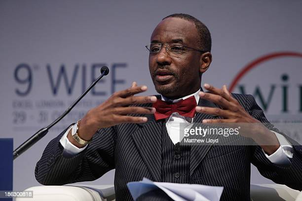 Mallam Sanusi Lamido Sanusi Governor Central Bank of Nigeria presents at the World Islamic Economic Forum at ExCel on October 30 2013 in London...