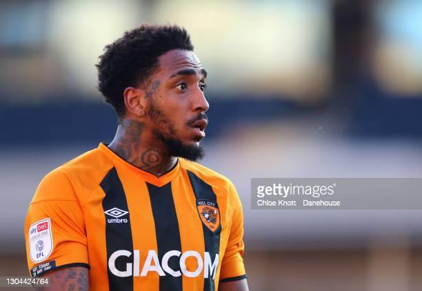 Mallik Wilks of Hull City during the Sky Bet League One match between AFC Wimbledon and Hull City at Plough Lane on February 27, 2021 in Wimbledon,...