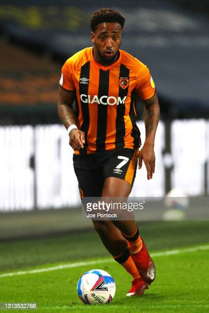 Mallik Wilks of Hull City during the Sky Bet League One match between Hull City and Sunderland at KCOM Stadium on April 20, 2021 in Hull, England....