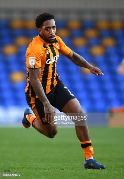 Mallik Wilks of Hull City runs during the Sky Bet League One match between AFC Wimbledon and Hull City at Plough Lane on February 27, 2021 in...