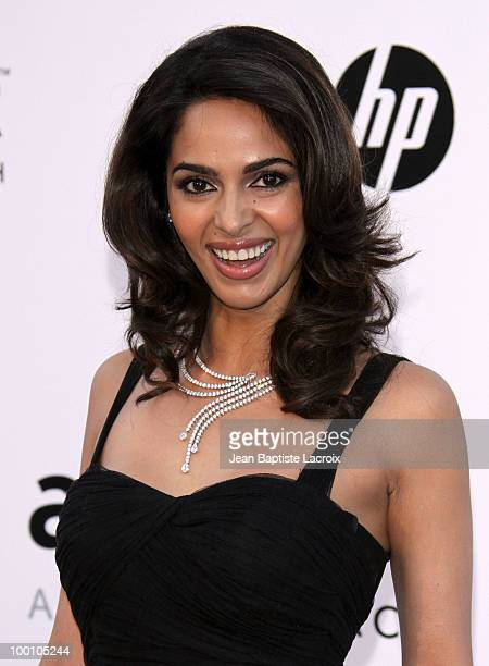 Mallika Sherawat arrives at amfAR's Cinema Against AIDS 2010 benefit gala at the Hotel du Cap on May 20 2010 in Cannes France