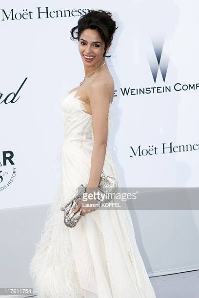 Mallika Sherawat arrives at amfAR's Cinema Against AIDS Gala 2011 at Hotel Du Cap on May 19 2011 in Antibes France