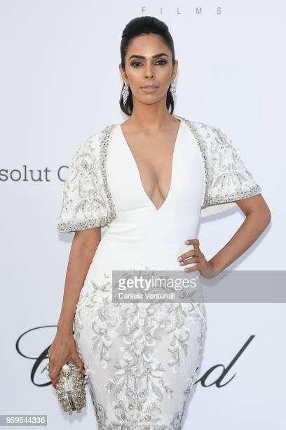 Mallika Sherawat arrives at the amfAR Gala Cannes 2018 at Hotel du CapEdenRoc on May 17 2018 in Cap d'Antibes France
