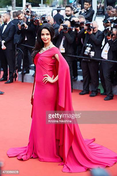 Mallika Sherawat attends 'Mad Max Fury Road' Premiere at the 68th Annual Cannes Film Festival on May 14 2015 in Cannes France