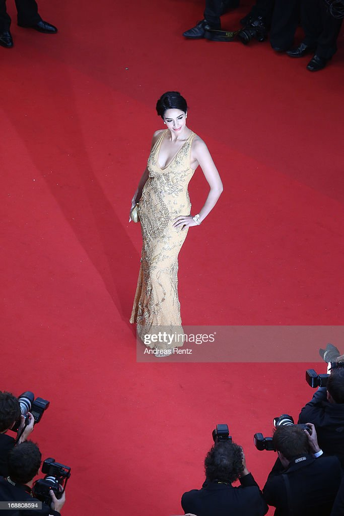 Mallika Sherawat attends the Opening Ceremony and 'The Great Gatsby' Premiere during the 66th Annual Cannes Film Festival at the Theatre Lumiere on May 15, 2013 in Cannes, France.