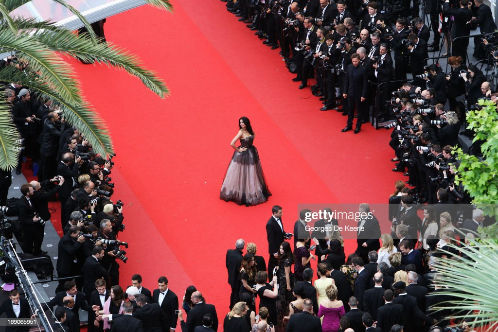 Mallika Sherawat attends the Premiere of 'Inside Llewyn Davis' during the 66th Annual Cannes Film Festival at Palais des Festivals on May 19, 2013 in Cannes, France.
