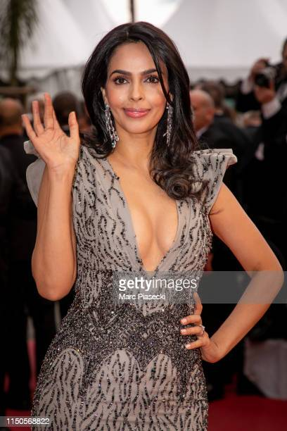 Mallika Sherawat attends the screening of Le Belle Epoque during the 72nd annual Cannes Film Festival on May 20 2019 in Cannes France