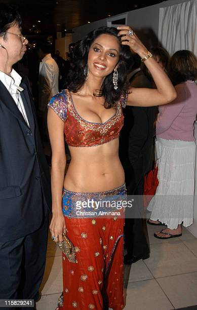 Mallika Sherawat during 2005 Cannes Film Festival 'The Myth' Party at Majestic Beach in Cannes France
