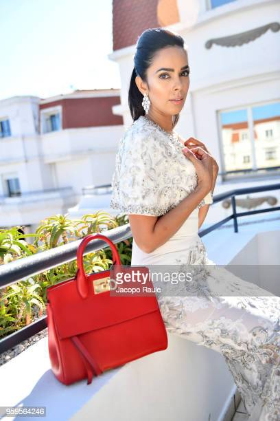 Mallika Sherawat is seen during the 71st annual Cannes Film Festival at on May 17 2018 in Cannes France