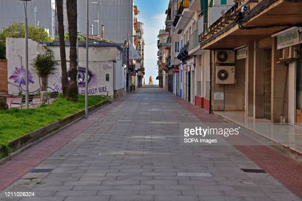 Mallorca Street empty during confinement 43 days since the government of Spain decreed the state of alarm and confinement due to the health crisis of...