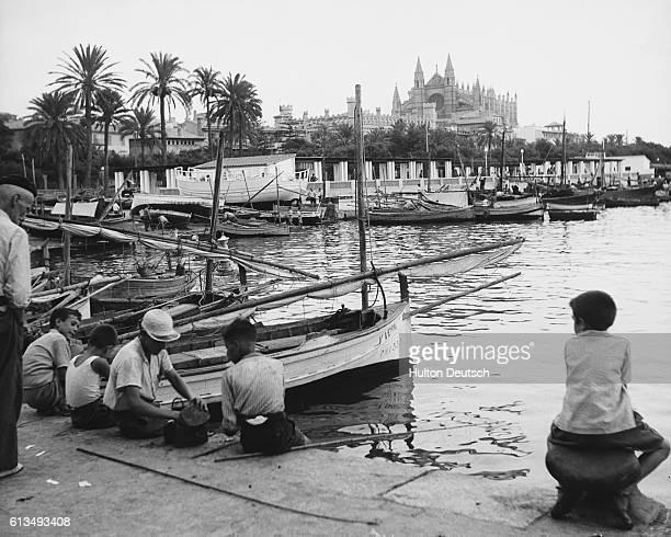 Mallorca The Harbour Of Palma On Mallorca