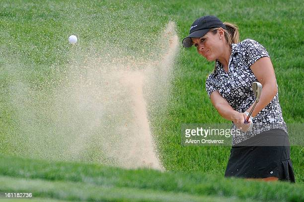 Mallory Blackwelder of Versailles Ken hits out of a bunker during the United States Women's Open qualifier at the Broadmoor Golf Course in Colorado...