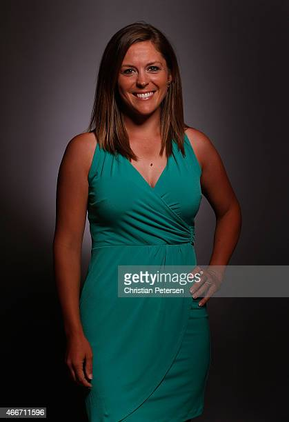 Mallory Blackwelder poses for a portrait ahead of the LPGA Founders Cup at Wildfire Golf Club on March 17 2015 in Phoenix Arizona