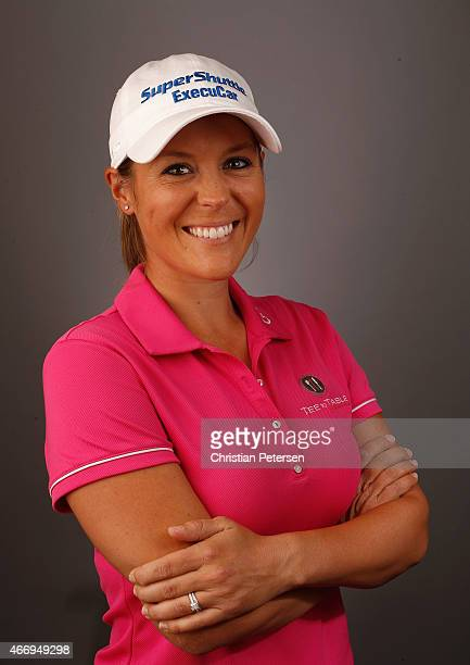 Mallory Blackwelder poses for a portrait ahead of the LPGA Founders Cup at Wildfire Golf Club on March 18 2015 in Phoenix Arizona