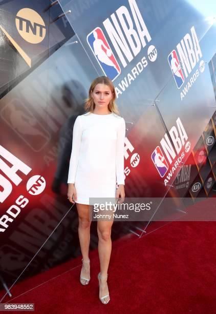 Mallory Edens attends 2018 NBA Awards at Barkar Hangar on June 25 2018 in Santa Monica California