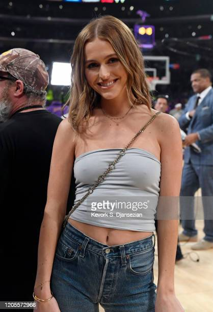 Mallory Edens attends Los Angeles Lakers and Milwaukee Bucks basketball game at Staples Center on March 6 2020 in Los Angeles California