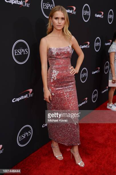Mallory Edens attends the 2018 ESPY Awards Red Carpet Show Live Celebrates With Moet Chandon at Microsoft Theater on July 18 2018 in Los Angeles...