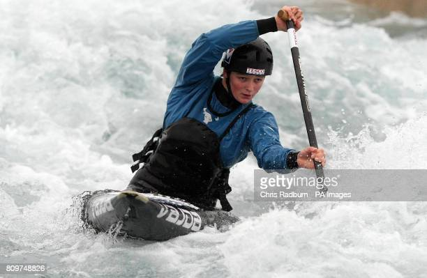 Mallory Franklin during a training session at Lee Valley White Water Centre Waltham Cross