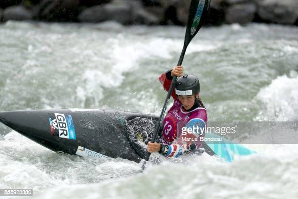 Mallory Franklin of Great Britain during the K1 SemiFinal of the 2017 ICF Canoe Slalom and Wildwater canoeing World Championships at Stade d'Eaux...